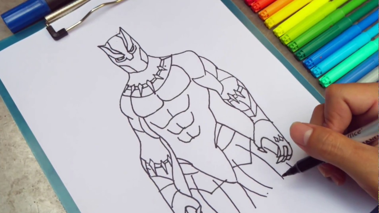 How to draw black panther easy drawing for kids