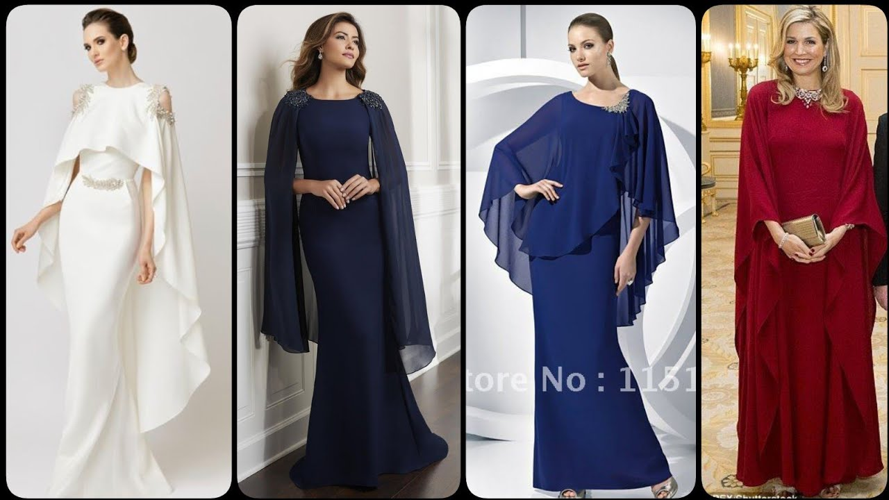 full sleeves cape mother of the bride dresses ideas 2020/21