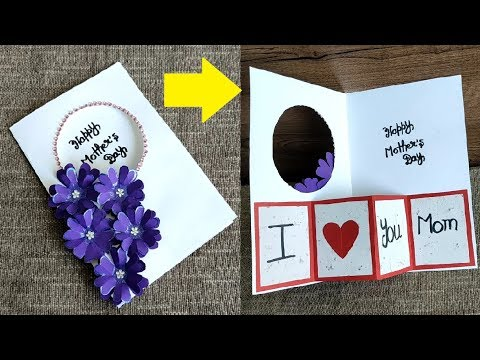 Diy Mother S Day Card Making Handmade Easy And Beautiful Card For Mother S Day Birthday Cards Youtube
