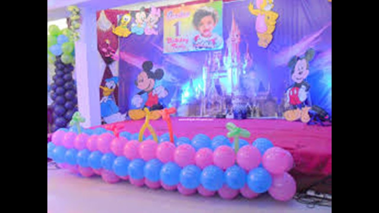 1stbirtday decoration baby 1st birthday ideas youtube for Baby birthday decoration ideas