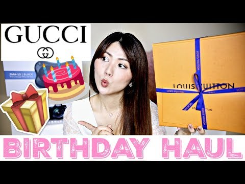 UNBOXING 🎉 MY FIRST GUCCI BAG 🙋🏻LOUIS VUITTON, NEW CAMERA... BIRTHDAY 🎁 HAUL | CHARIS 🎀