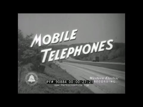 """1940s BELL TELEPHONE """"MOBILE TELEPHONES"""" MOVIE  EARLY CELL PHONE /  MOBILE TELEPHONE SYSTEM  90884"""
