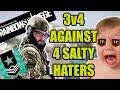 3v4 | HazBro, Mekel & Millerz vs SALTY HATERS! | ME BAK HERT