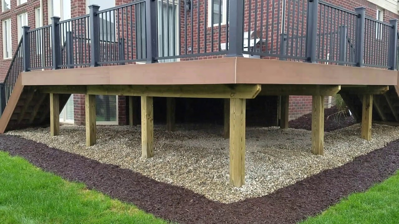 Raised Deck Design Decisions Elevated Stone Deck In
