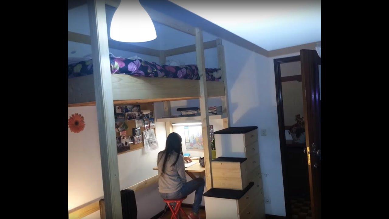 Building A Loft Bed Diy Loft Bed Youtube