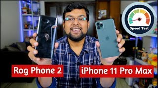 ROG Phone 2 vs iPhone 11 Pro Max PUBG + Gaming Speed Test Comparison