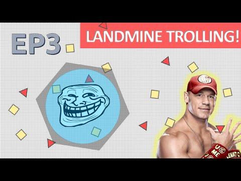 "NEW ""LANDMINE"" CLASS TROLLING!! -Diep.io Funniest INVISIBLE Landmine Trolling EP3! Bombed everyone!"