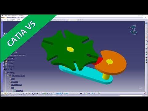 Geneva Drive Mechanism - Catia v5 Training - Kinematik