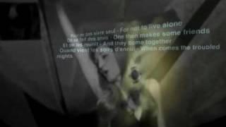 "Dalida ""Pour Ne Pas Vivre Seul"" Video, Lyrics: French / English, Animation"