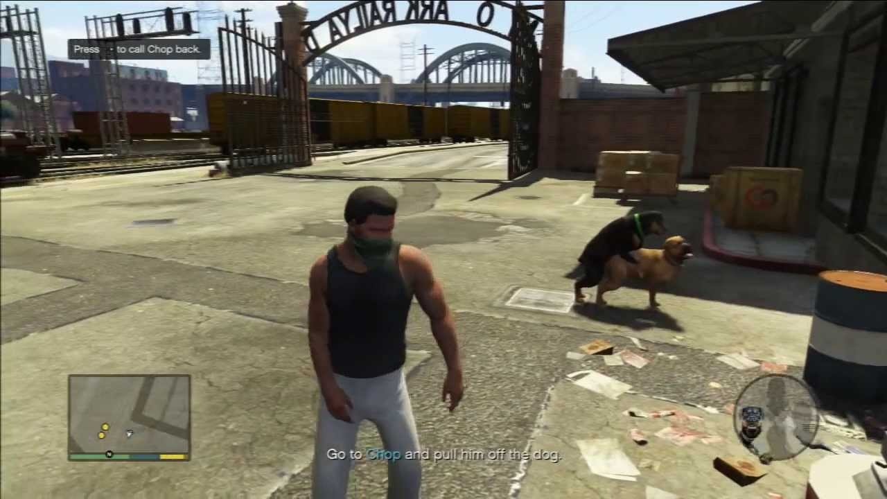 grand theft auto v dog sex franklin s dog chop youtube