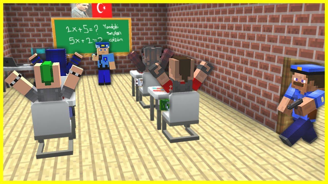 POLİSLER, OKULA BASKIN YAPIYOR KÖTÜ ÇOCUĞU ARIYOR! 😱 - Minecraft
