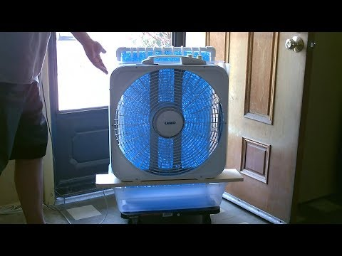 "Large Area Evap. Air Cooler! - DIY AC Air Cooler! - Simple ""Box Fan"" Conversion - works great!!"
