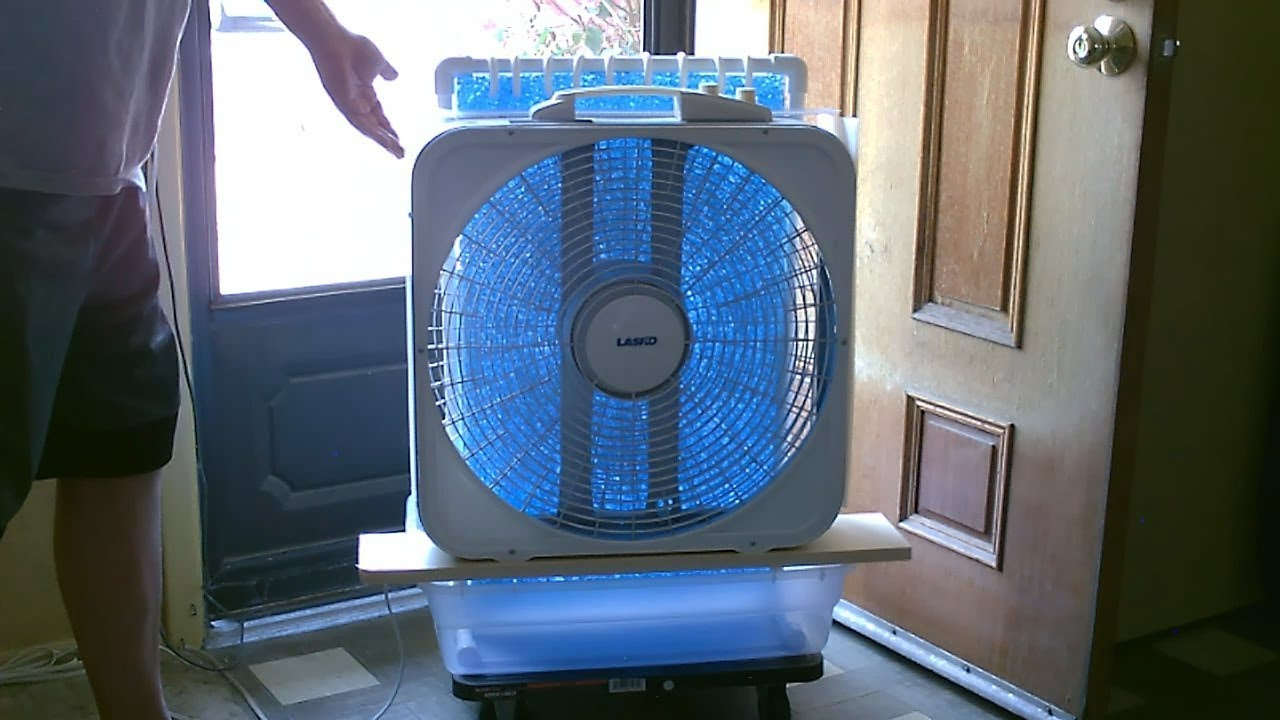 Large Area Evap  Air Cooler! - DIY AC Air Cooler! - Simple
