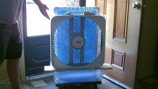 Groot Gebied Evap. Air Cooler! - DOE-AC Air Cooler! - Simpele ''Box Fan'' Conversie - werkt geweldig!!