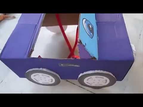 Simpático coche de cartón - YouTube