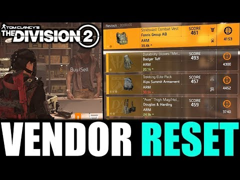 Repeat The Division 2 - VENDOR RESET | GREAT WEAPONS, GEAR