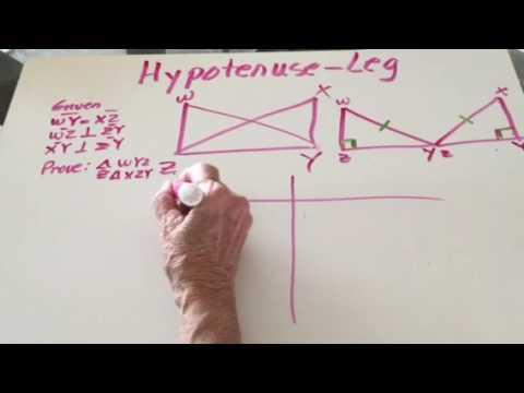 Hypotenuse Leg Theorem Proof