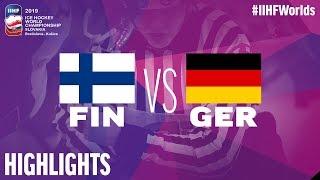 Finland vs. Germany - Game Highlights - #IIHFWorlds 2019