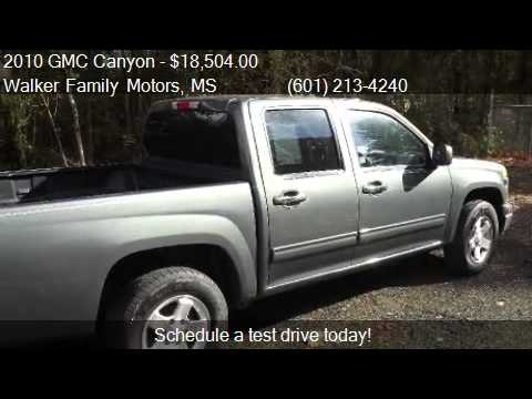 2010 gmc canyon sle 1 4x2 4dr crew cab for sale in byram ms youtube. Black Bedroom Furniture Sets. Home Design Ideas