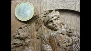 Woodcarving Low-relief Carving : St-martin Of Tours