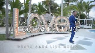 """I GOTTA FEELING"" sax cover at Kukua Beach Club Wedding"