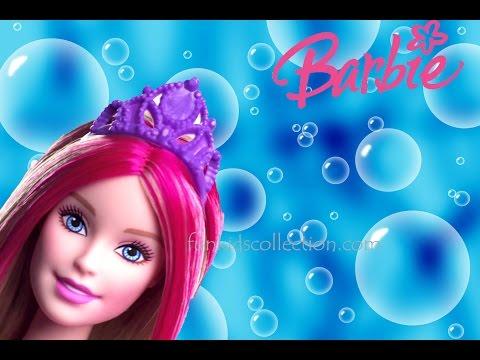 Kukulla Barbie si Sirene qe ben Flluska dhe Fustani prej Plasteline i Barbie-t
