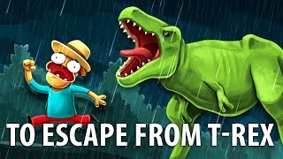 Is It Possible To Escape From A Dinosaur?