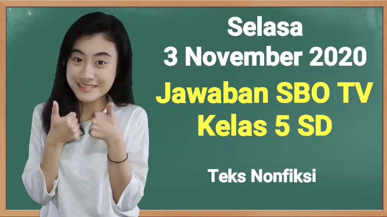Kunci Jawaban SBO TV Kelas 5 SD Selasa 3…