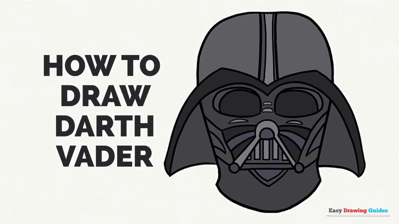 How To Draw Darth Vader Easy Step By Step Drawing Tutorial For