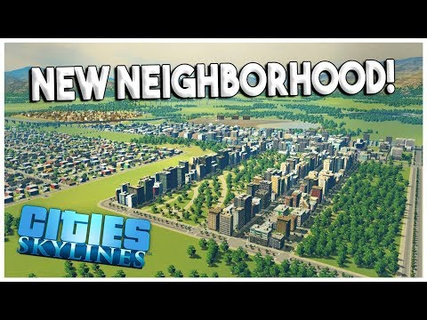 HIGH DENSITY RESIDENTIAL NEIGHBORHOOD! - Cities: Skylines Green Cities Gameplay - EP 5