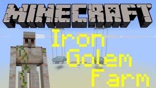 Minecraft - Iron Golem Farm Tutorial [Minecraft 1.11 & Pocket Edition]
