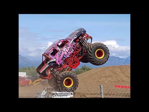 Alaska State Fair - ALL STAR MONSTER TRUCKS and EXTREME MOTOCROSS - WRECK