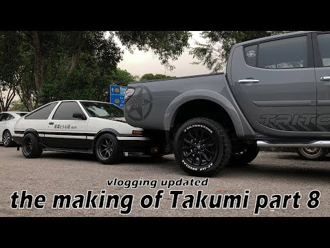 The Making Of Takumi Part 8 (Initial D malaysia)