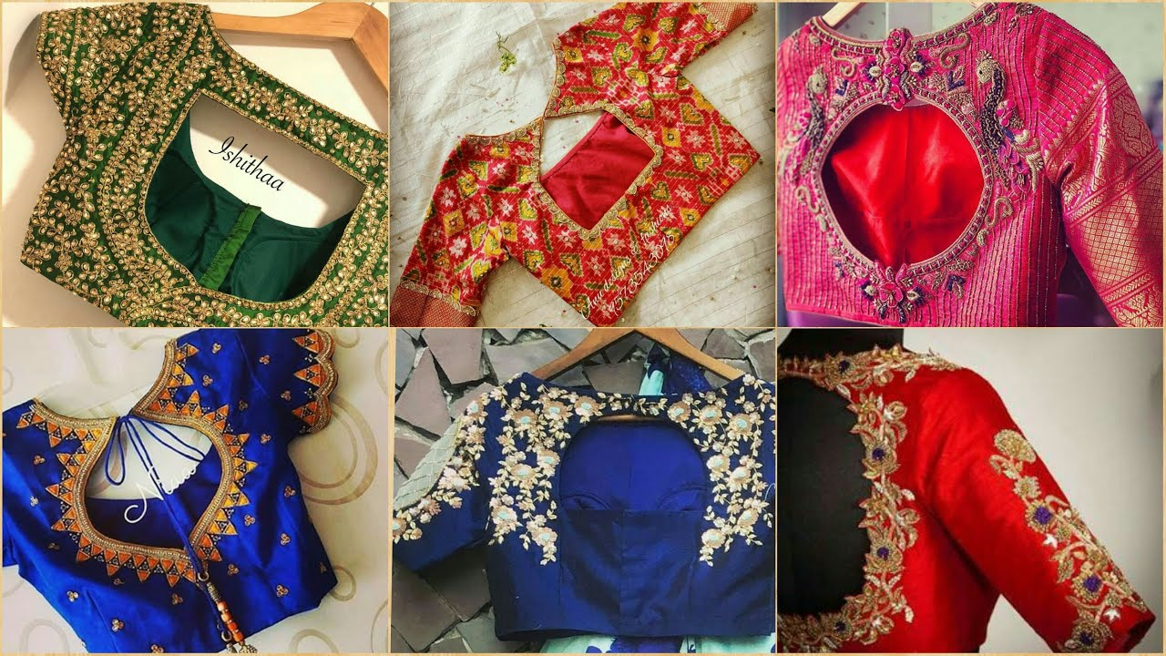 Saree Blouse Neck Designs 2020 Free Latest Blouse Designs Images Back Side And Neck Design Catalogue Tattoo Ideas Latest Best Selling Shop Women S Shirts High Quality Blouses