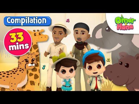 Compilation | Everything Belongs To Allah 33 Mins | Omar & Hana | Nasheed For Kids