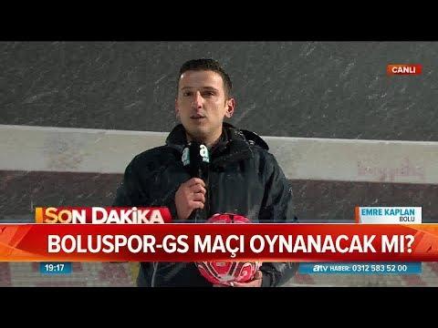 Boluspor - Galatasaray maçı oynanacak mı? - Atv Haber 15 Ocak 2019