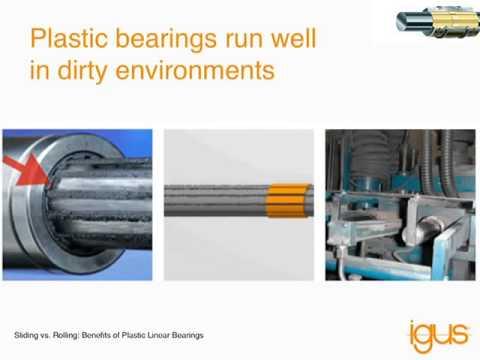 Sliding vs Rolling of Plastic Linear Bearings - Igus