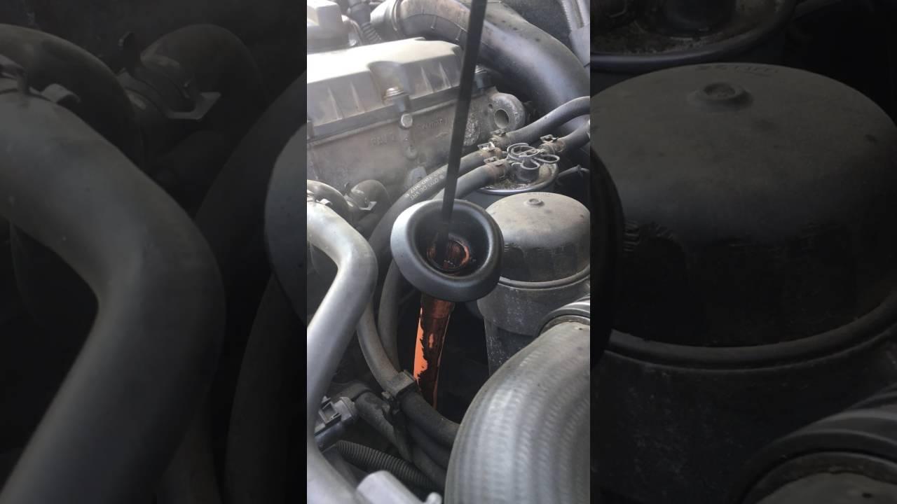 Audi A4 B7 19 Tdi Brb Gaze Pe Joja De Ulei Youtube