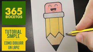 COMO DIBUJAR UN LAPIZ KAWAII PASO A PASO - Dibujos kawaii faciles - How to draw a pencil