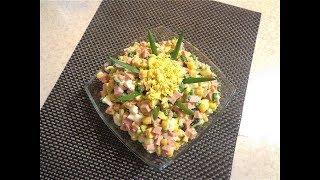 Вкусный, сочный салат с колбасой-  На скорую руку!
