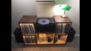 Record Player Cabinet - Walnut & Birch | DIY Build