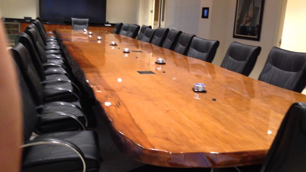 Beautiful Foot Long Ancient Kauri Boardroom Table YouTube - Boardroom table for sale