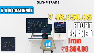 Olymp Trade live account trading $/€ 100 challenge 5/5 winning trades