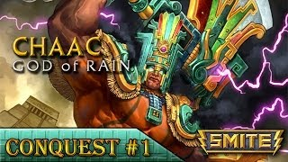 SMITE Gameplay(BR) - Chaac (ft.LukeZieghart, Valqkyrion) | Conquest #1