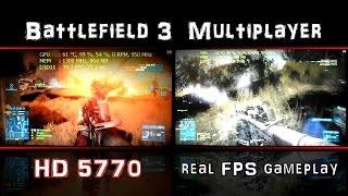 Battlefield 3 Multiplayer on Radeon HD 5770 - 720p vs. 1080p FPS Test