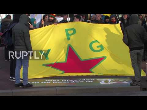 Netherlands: Kurds rally against Turkish operations in Afrin