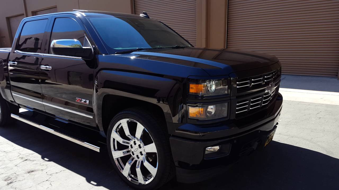 2015 silverado on 24s - YouTube