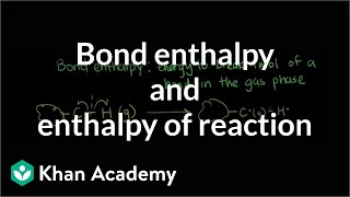 Bond enthalpy and enthalpy of reaction | Chemistry | Khan Academy