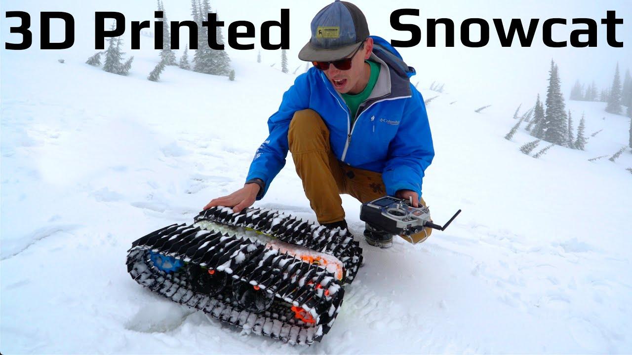 Fastest RC Snowcat! - Injection Molded Tracks Prototype #1