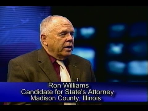 A Conversation with Ron Williams - State's Attorney Candidate - Madison County, IL 6-14-16